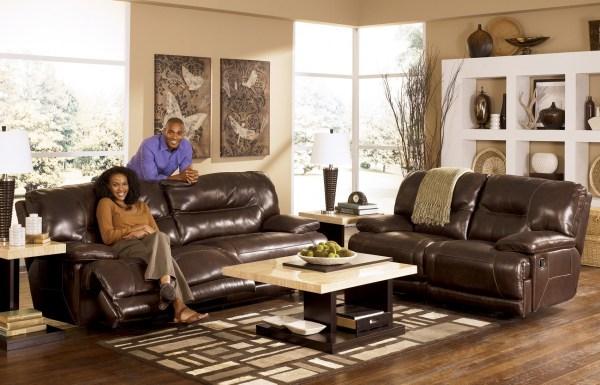 Ashley Leather Living Room Furniture Sets