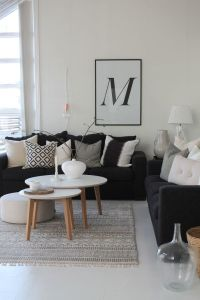 52 ideas of black and white living rooms