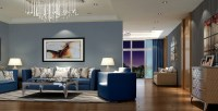 Blue living room - 35 shades of blue | Hawk Haven
