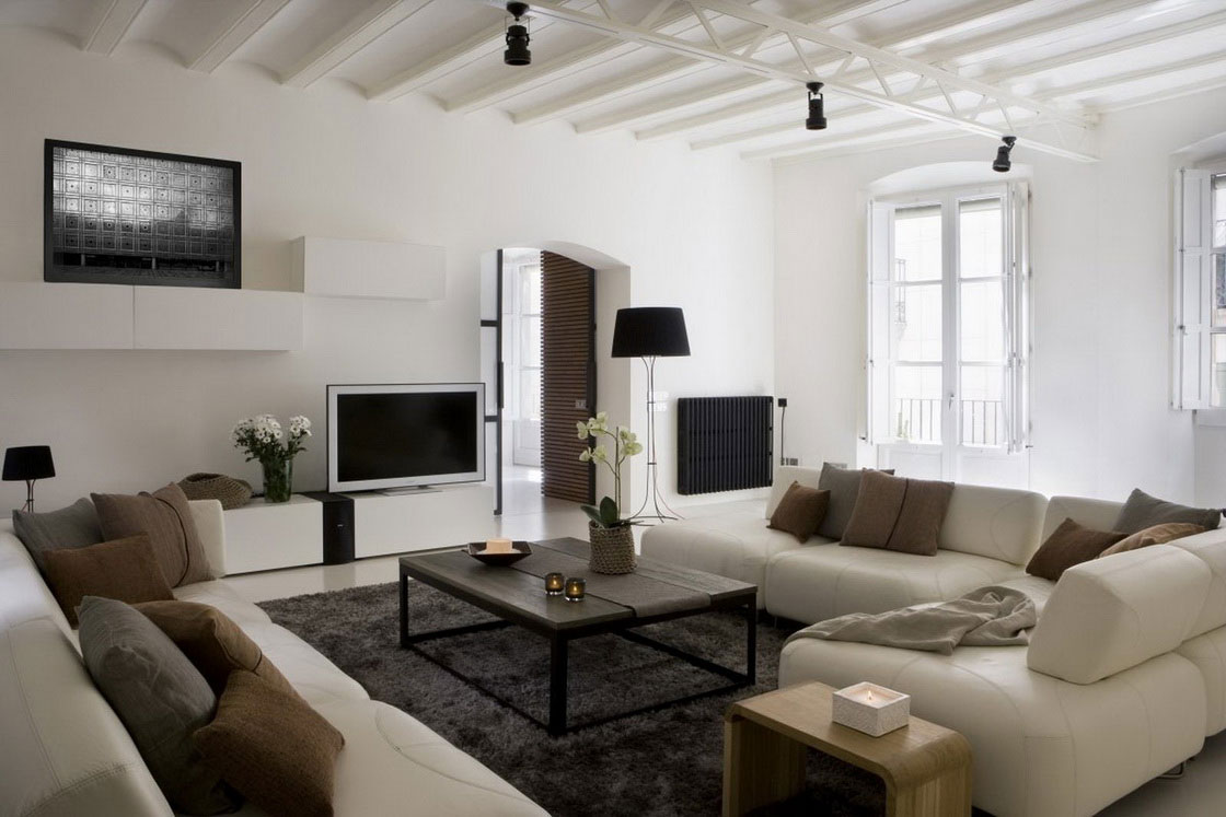 Contemporary living room  20 characteristics of modern
