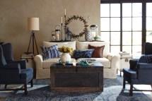 Pottery Barn Blue Living Room