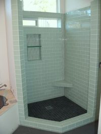 Bathroom tile designs glass mosaic