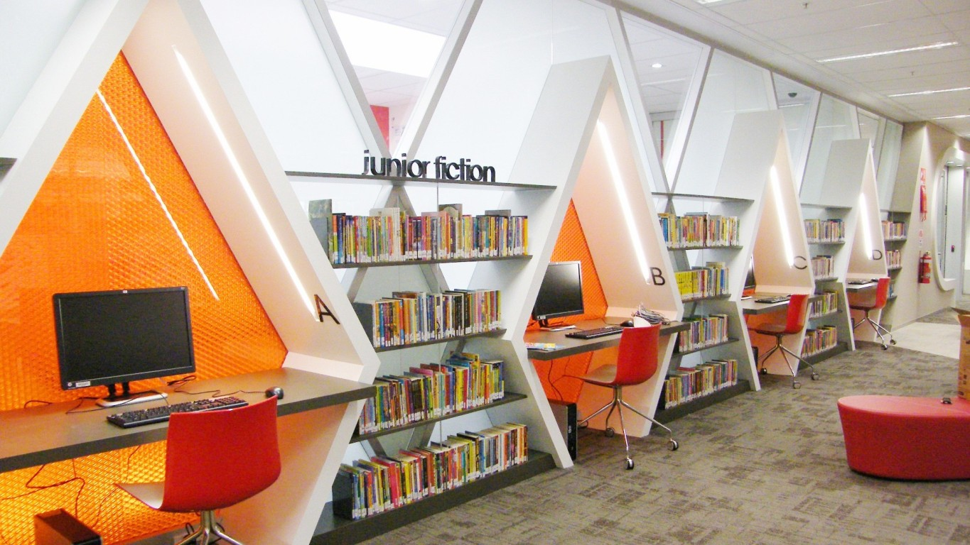Library Interior Design Planning  Hawk Haven