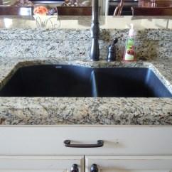 Composite Kitchen Sink Wall Organizer Black Granite Cleaning Hawk Haven
