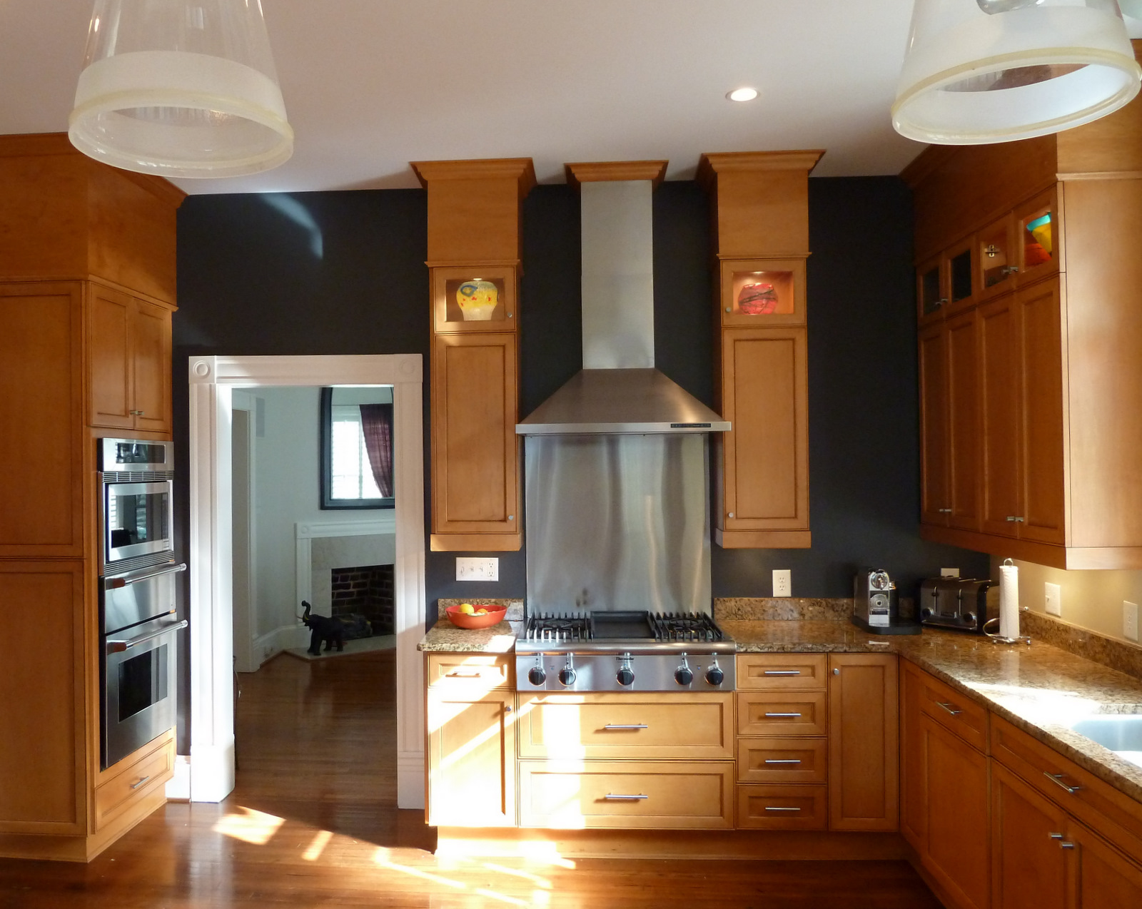 Black Kitchen Cabinets And Wall Color Hawk Haven