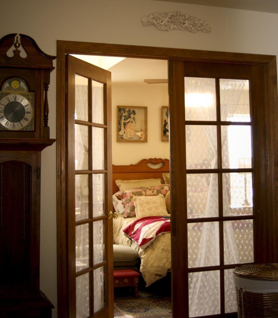Interior french doors bedroom  Hawk Haven