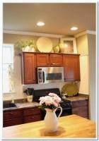 Kitchen cabinet decorating ideas above   Hawk Haven