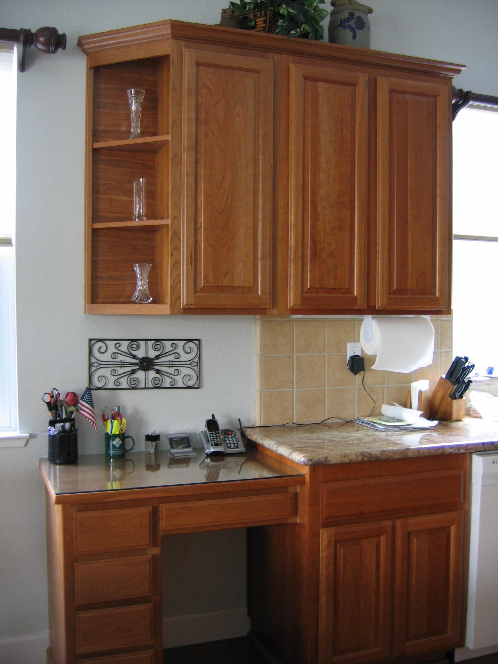 Kitchen cabinet desk ideas  Hawk Haven