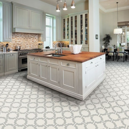 Kitchen floor tile ideas with white cabinets  Hawk Haven