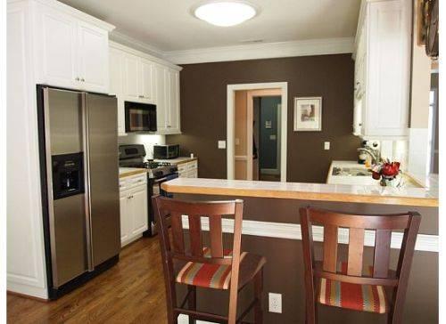 Kitchen White Cabinets Brown Walls Hawk Haven