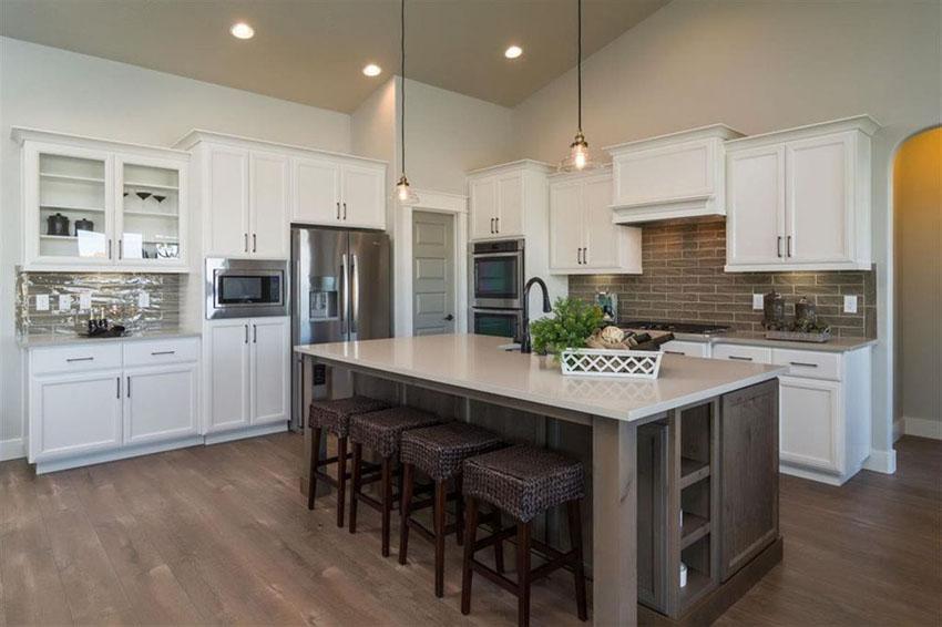 Kitchen White Cabinets Dark Island Hawk Haven