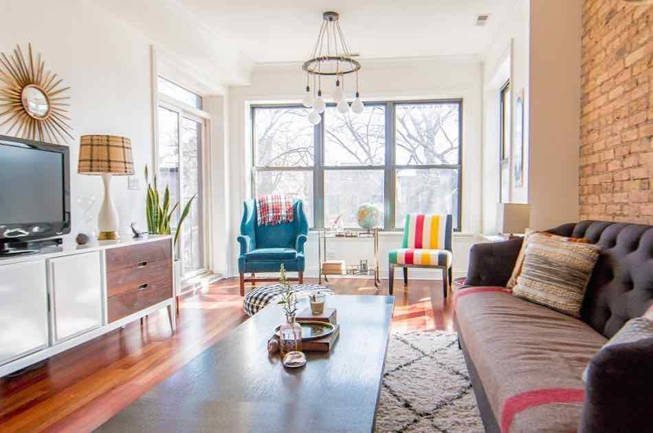 Living room design long narrow  Hawk Haven