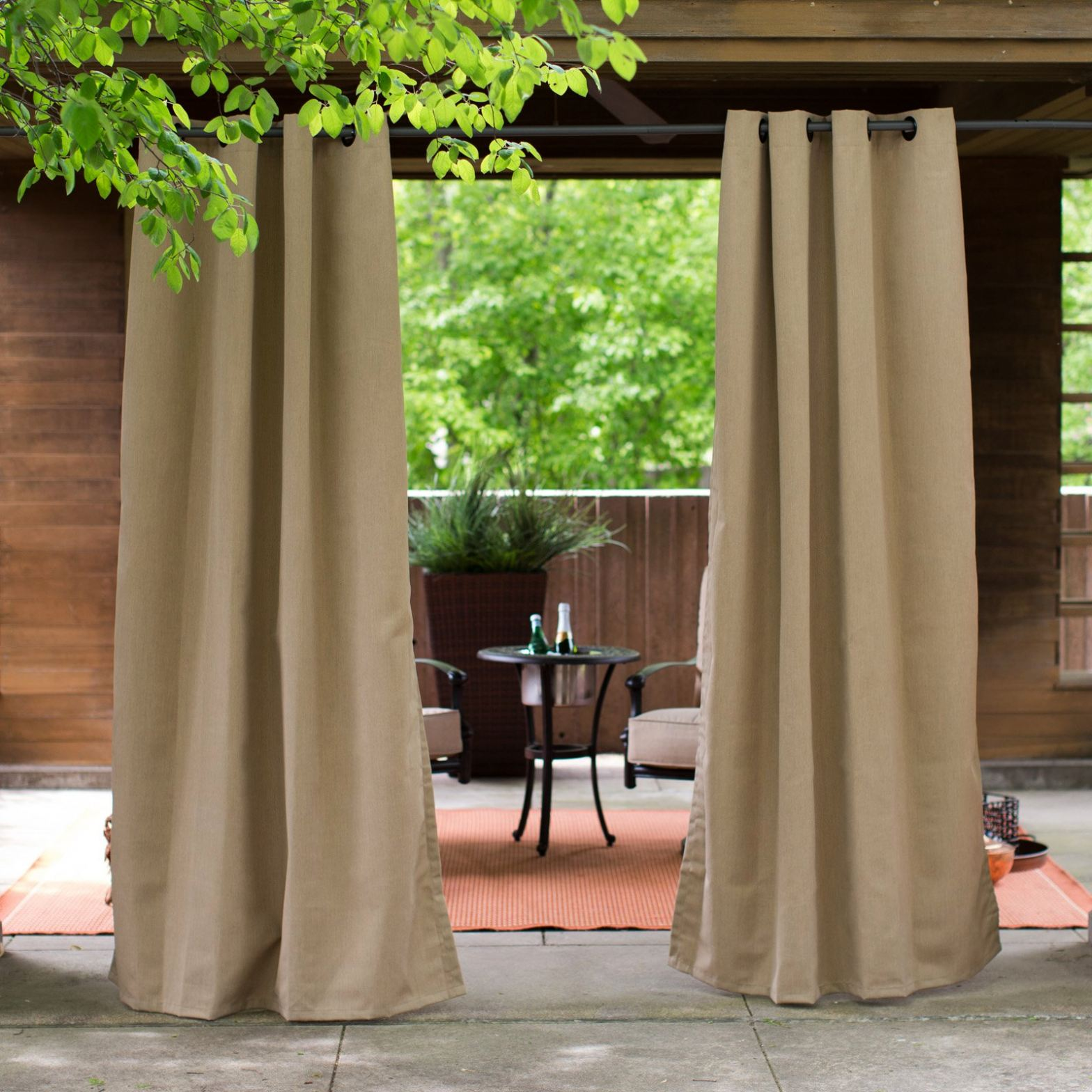 3 Gorgeous Outdoor Curtains And What Theyll Do for Your
