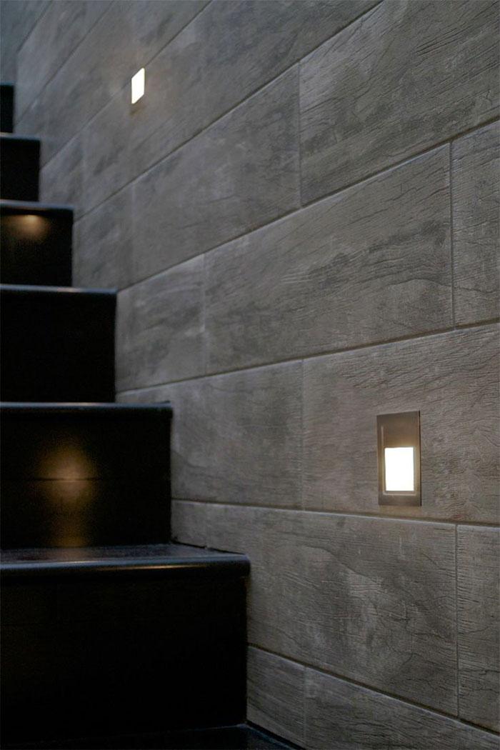 Outdoor inset wall lighting  Hawk Haven