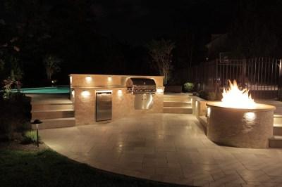 Outdoor kitchen lighting   Hawk Haven