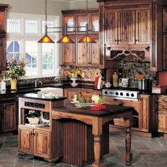 Rustic Country Kitchen Decor Corner Base Cabinet Hawk Haven