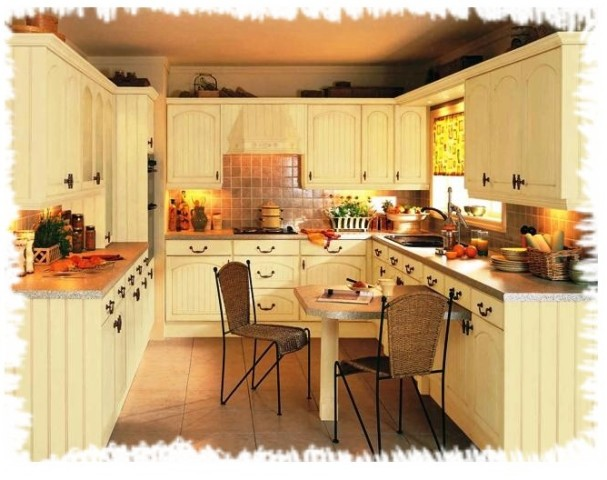 U shaped country kitchen designs  Hawk Haven