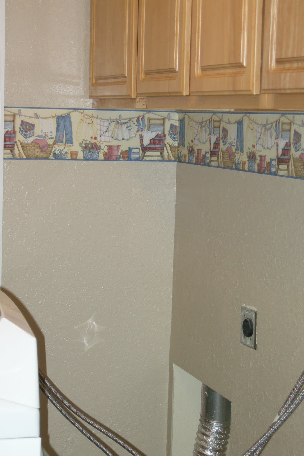 Vintage laundry room wallpaper border  Hawk Haven