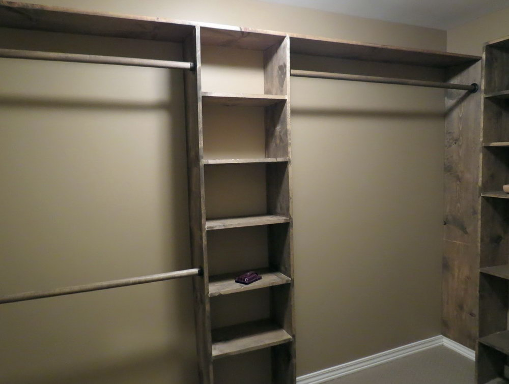 Walk in closet design diy  Hawk Haven