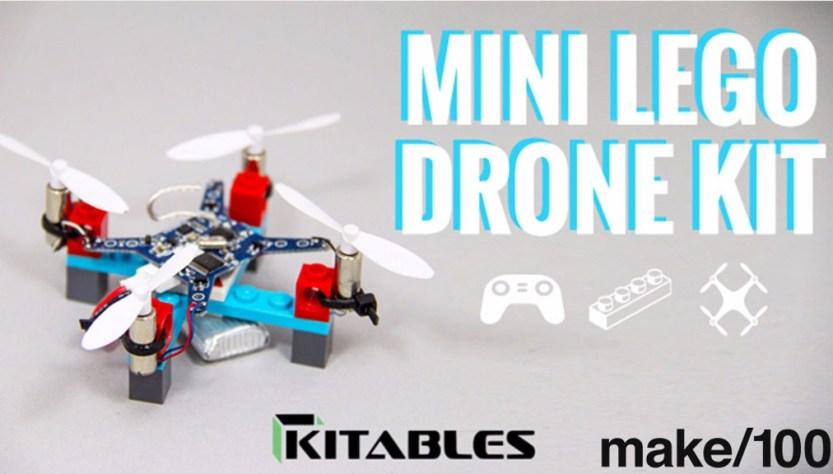 Piezas pequeñas de Lego para formar un dron