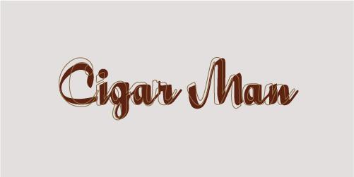 Cigar Man Logo - Overlaid