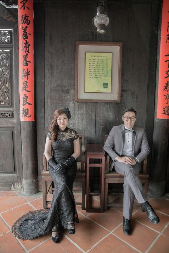 黑色禮服懷舊婚紗照-台北婚攝Hawk浩克