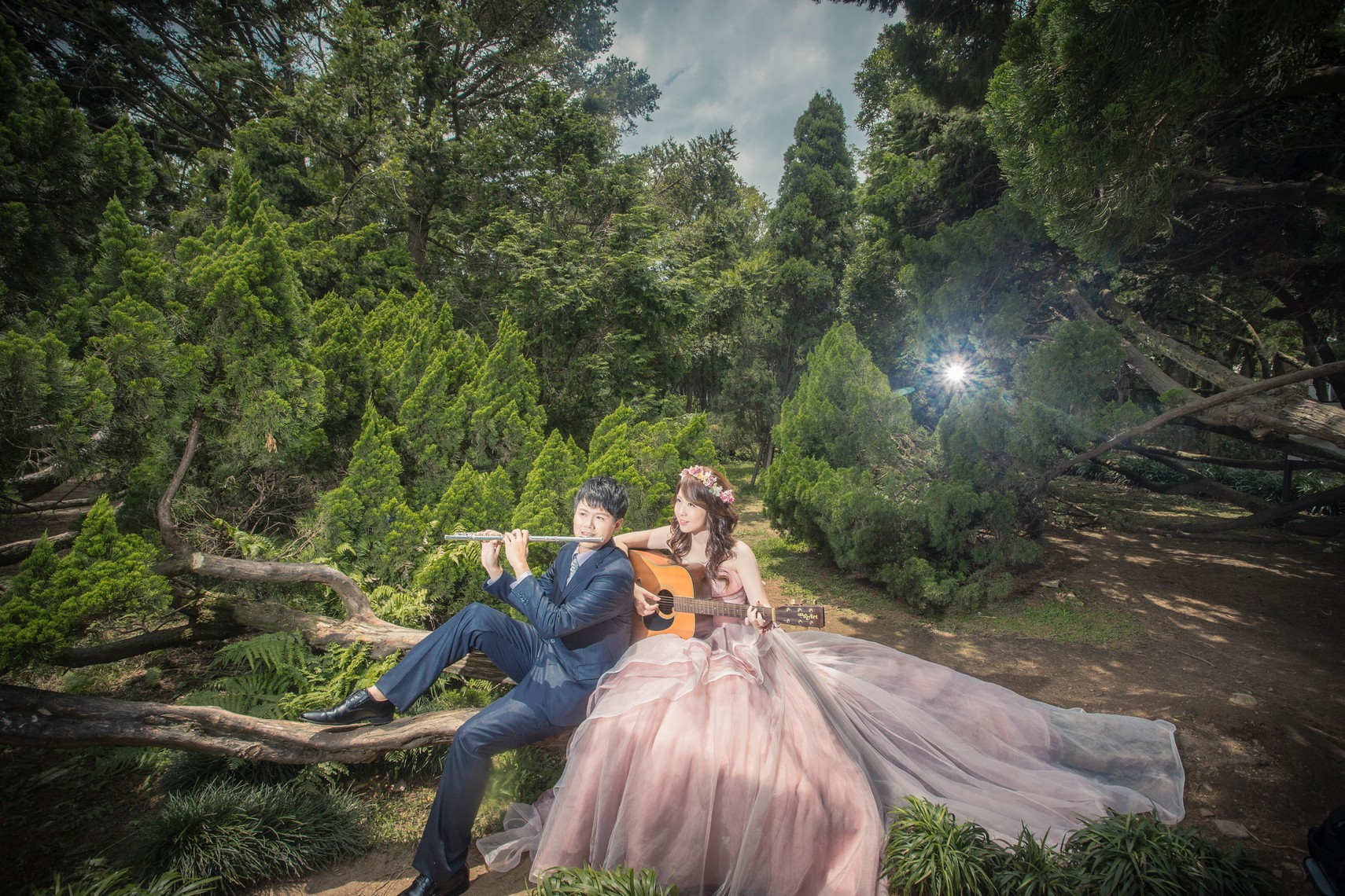 森林系婚紗照-台北新秘Hawk