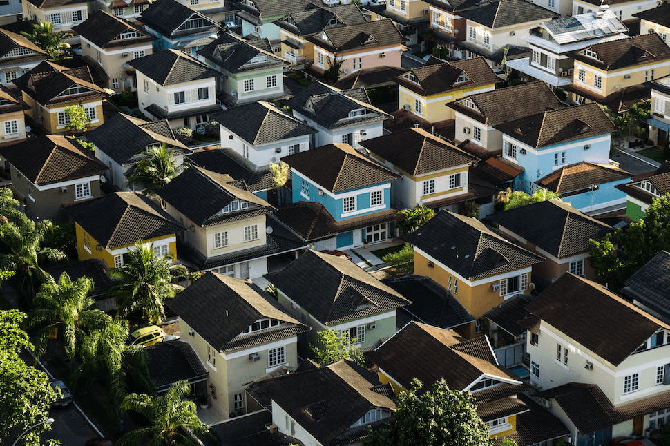 homes from an aerial view