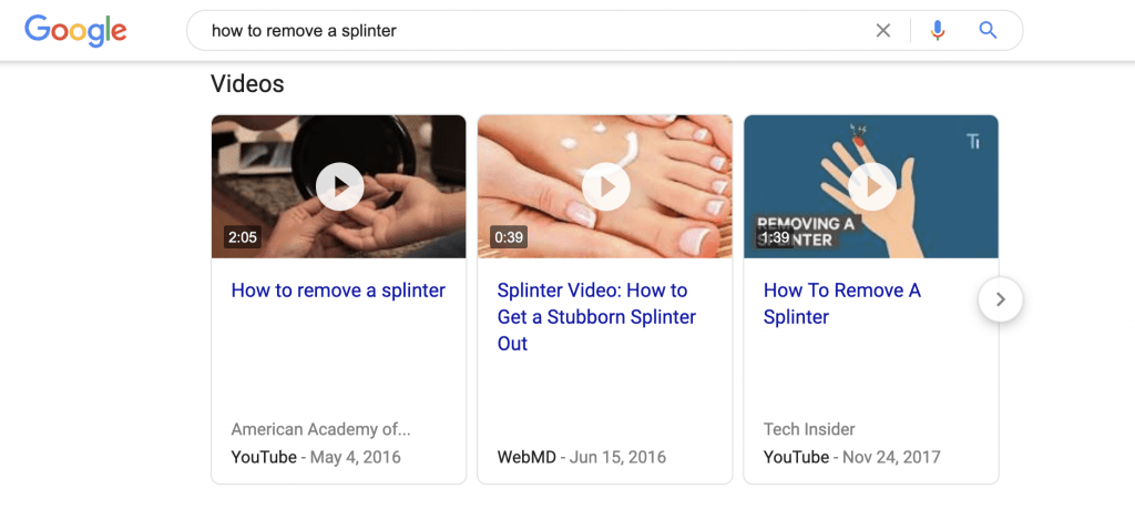 HawkSEM: SERP results - Video Snippets