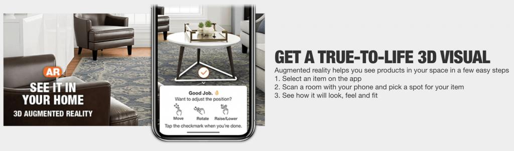 the home depot AR app