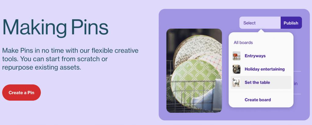 create pin