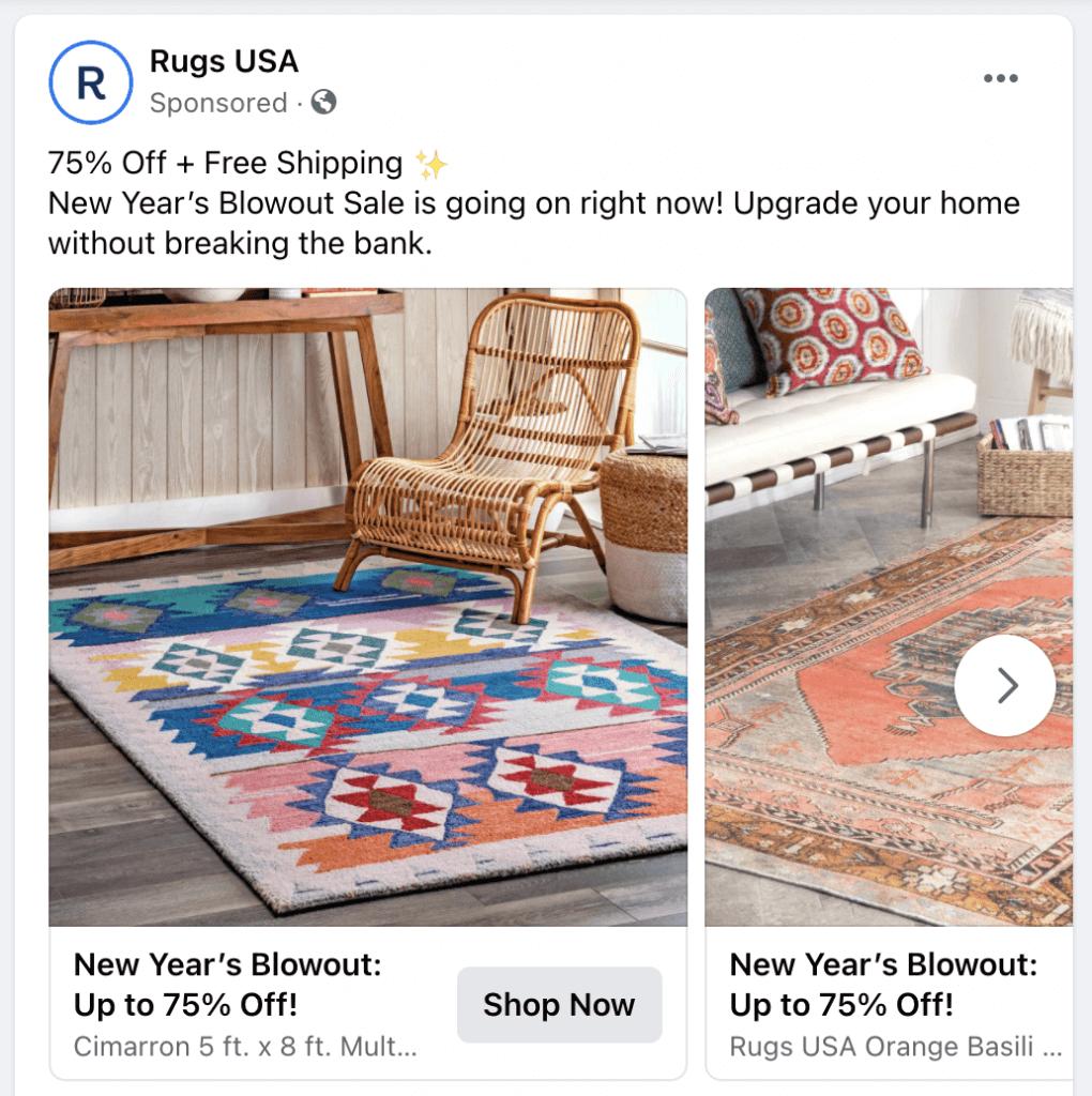 retargeting ads - facebook ad