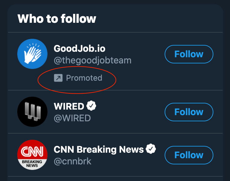 "Twitter ""Who to Follow"" section"