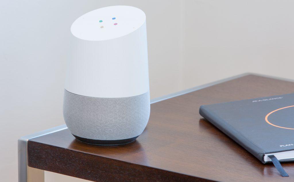smart speaker on desk