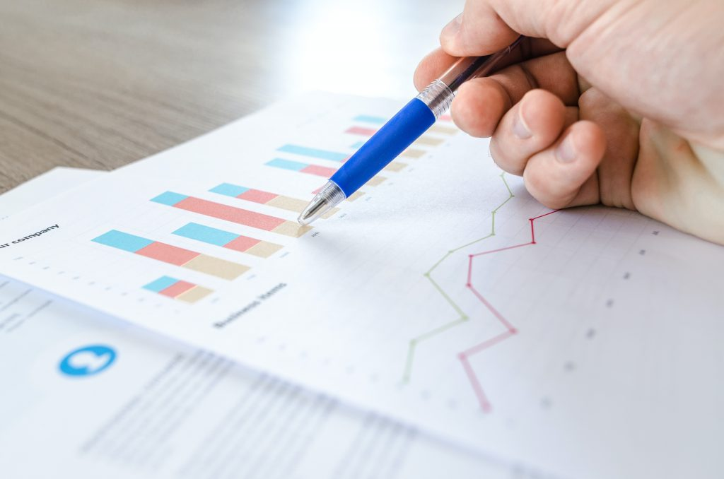 person analyzing data