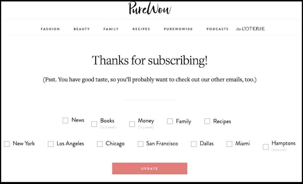 purewow preferences email