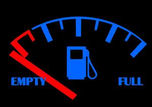 gas gage on empty