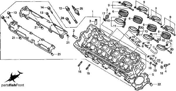 1998 Honda CBR 600 F3 partsfiche