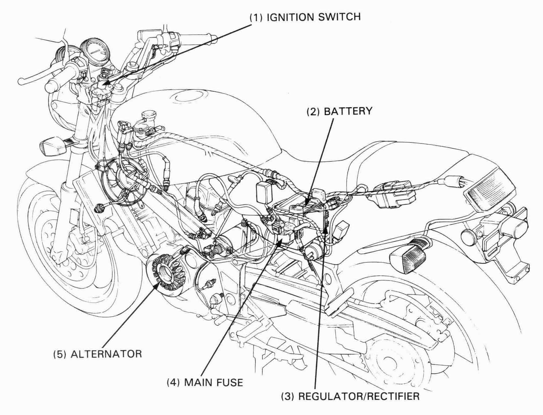 Honda NT650 service manual, section 15, Battery/Charging