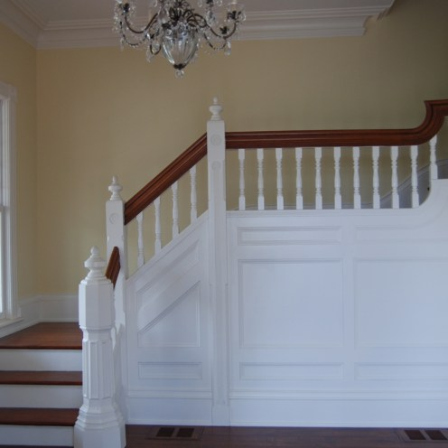 Staircase- Wood Panelling Vertical