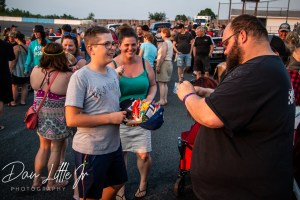 Tyler Hawn greets fans from Peterborough Speedway