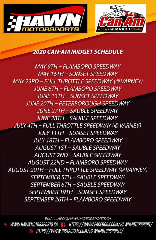 2020 Can-Am Schedule