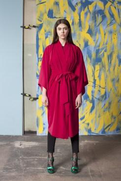 Malinowe kimono