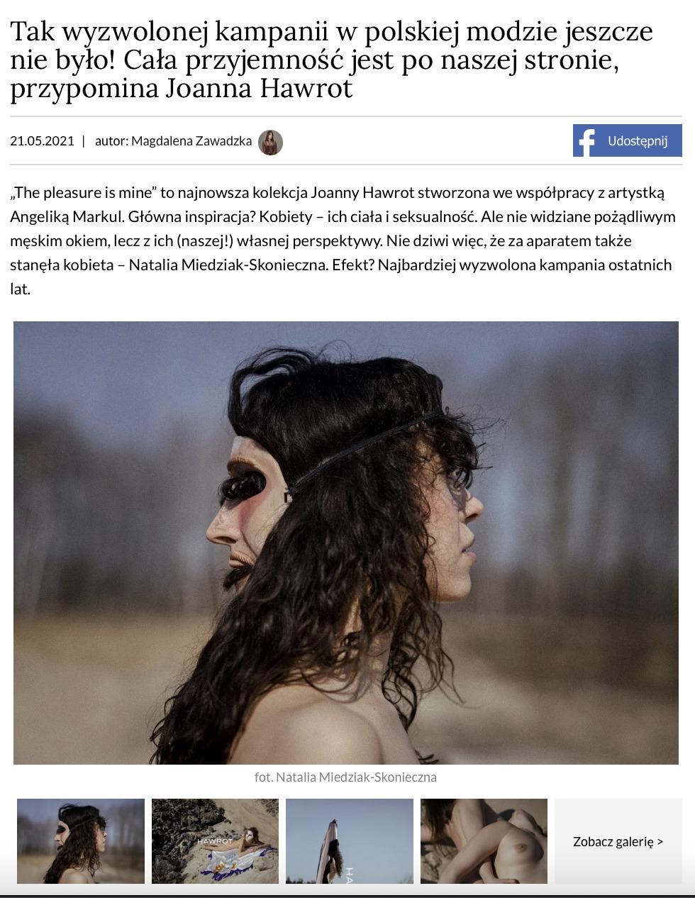 Tak wyzwolonej kampanii w polskiej modzie jeszcze nie było!