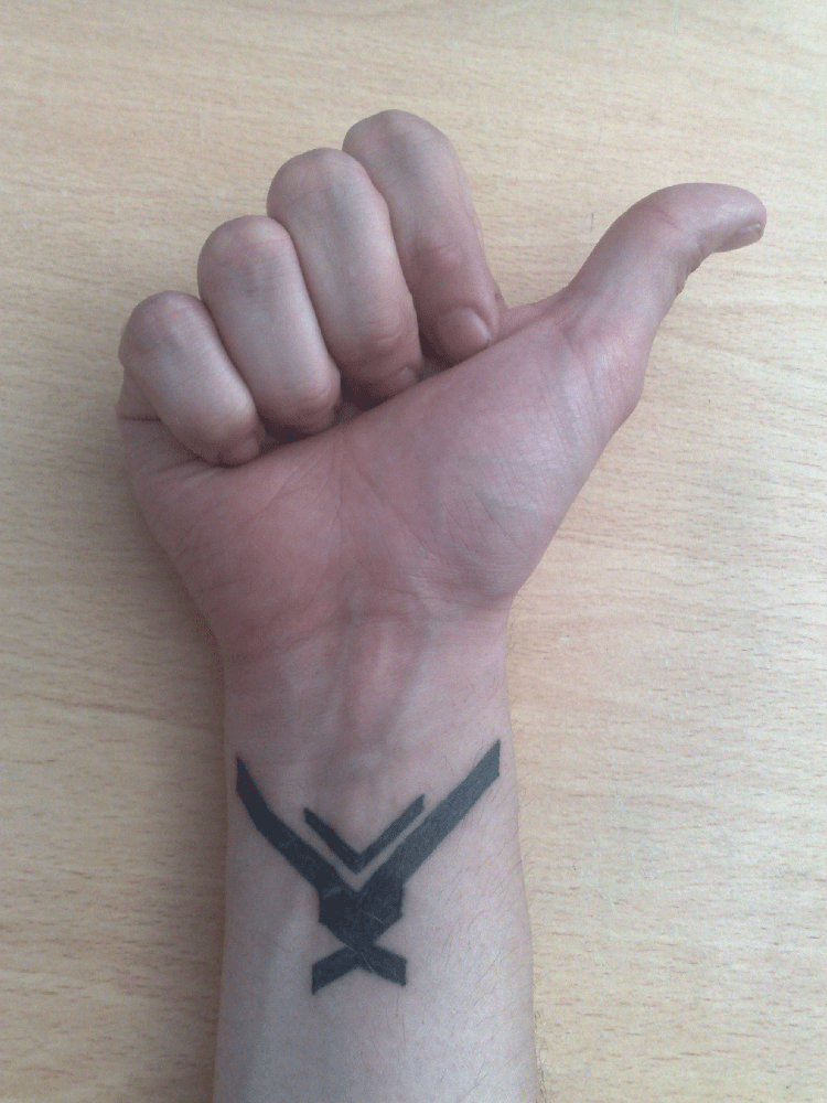 Simple Halo Tattoo : simple, tattoo, Halo:, Reach, Tattoo, Spartan, Hawty, McBloggy, Invites