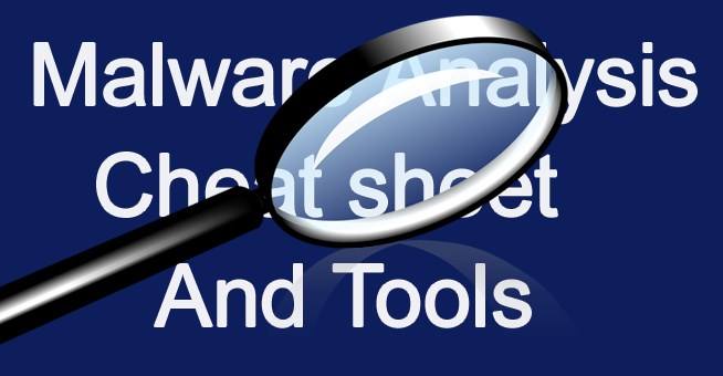 Malware Analysis Cheats And Tools list