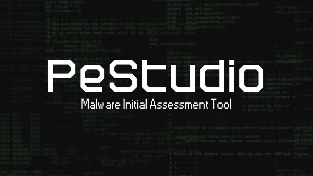 PeStudio - Malware Initial Assessment Tool