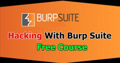 Free Burp Suite Hacking Course – Web Hacking Tool