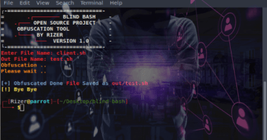 Blind-Bash : Project To Obfuscate Your Bash Code