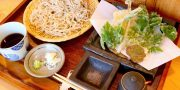 手打ちそばと山の食「おすくに」もりそば天ぷらセット
